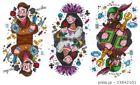 Figure characters. King, queen and jack.のイラスト素材 [23642101] - PIXTA