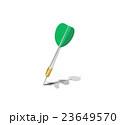 ダーツの矢を当てる 23649570