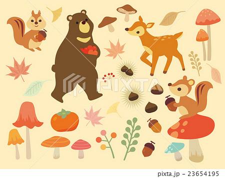 秋のイラスト集のイラスト素材 23654195 Pixta