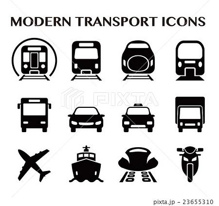 様々な交通アイコンセット 23655310