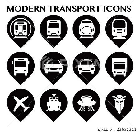 様々な交通アイコンセット 23655311