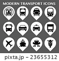 交通 アイコン セットのイラスト 23655312