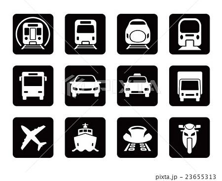 様々な交通アイコンセット 23655313