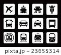 交通 アイコン セットのイラスト 23655314