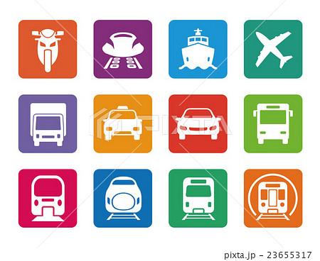 様々な交通アイコンセット 23655317