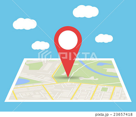 City Map With Marker, Vector Icon 23657418