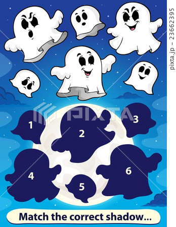 Shadow match game with ghosts 1のイラスト素材 [23662395] - PIXTA