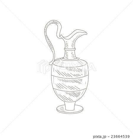 Vintage Wine Jug Hand Drawn Realistic Sketchのイラスト素材 [23664539] - PIXTA