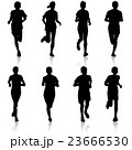 Set of silhouettes. Runners on sprint, men 23666530