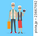 Travel in Old Age Vector Concept in Flat Design. 23667092