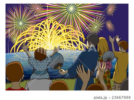 「花火大会」のイメージイラスト 23667999