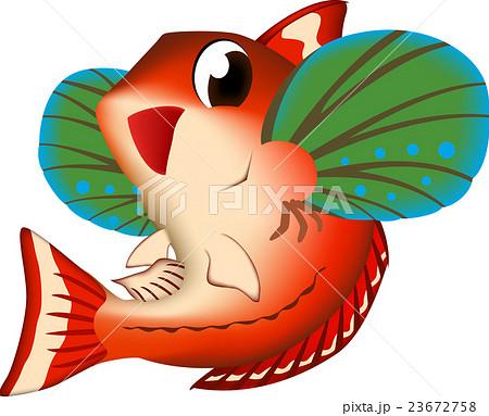 魚 ホウボウ イラスト ベクター かわいい系のイラスト素材 23672758