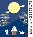 十五夜 月を見る兎 23673173