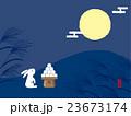 十五夜 月を見る兎 23673174