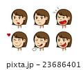女性 表情 顔のイラスト 23686401