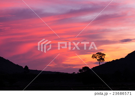 colorful sunset abstract for background 23686571