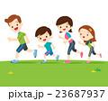 運動 ファミリー 家庭のイラスト 23687937