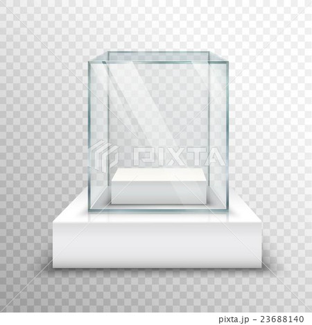 Empty Glass Showcase Transparentのイラスト素材 [23688140] - PIXTA