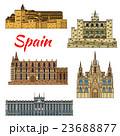 Travel landmark icons of Spain 23688877