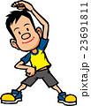 体操する男性 23691811