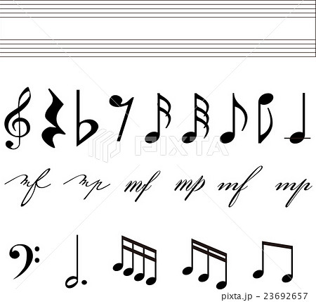 音符 イラスト のイラスト素材 23692657 Pixta