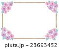 バラとフレームのイラスト 23693452