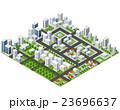 ベクトル 都市 立体のイラスト 23696637