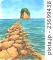 パステル画 見附島 23699438
