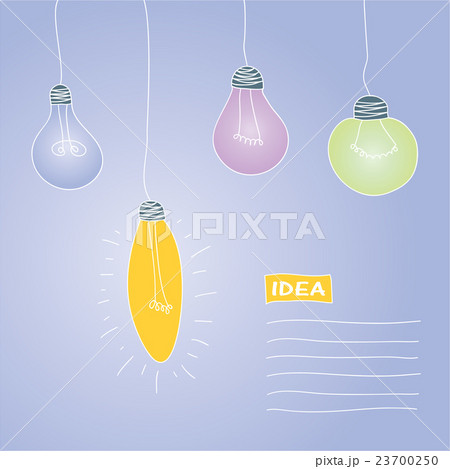 vector illustration - postcard with lampsのイラスト素材 [23700250] - PIXTA