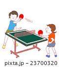 女子 卓球 女性のイラスト 23700320