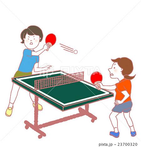 スポーツ 卓球女子のイラスト素材 23700320 Pixta