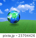 ワールドカップとサッカーボール 23704426