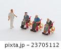 介護 シニア 車椅子の写真 23705112