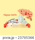 Japan nagoya castle and maple 23705366