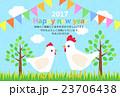 酉 とり年 鶏のイラスト 23706438