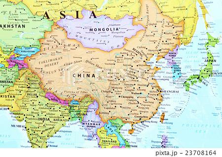 世界地図・中国 23708164