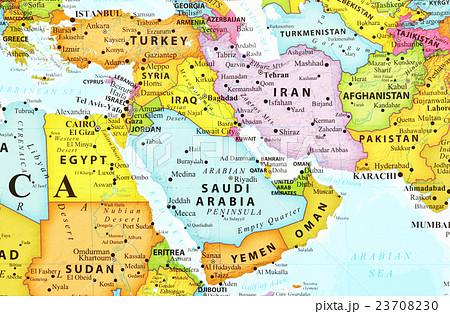 世界地図・中東 23708230