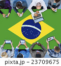 Brazil National Flag Business Communication Meeting Concept 23709675