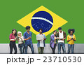 Brazil National Flag Studying Diversity Students Concept 23710530