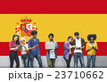 Spain National Flag Studying Diversity Students Concept 23710662