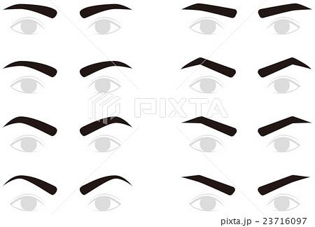 男性の眉毛 トリミング 23716097