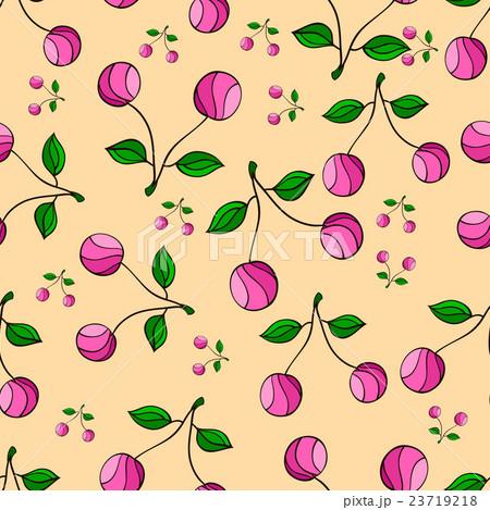 cherry patternのイラスト素材 [23719218] - PIXTA