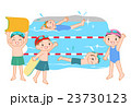 子供 プール スイミングのイラスト 23730123