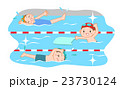 子供 プール スイミングのイラスト 23730124