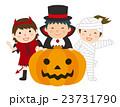 ハロウィン ジャック・オー・ランタン お化けかぼちゃのイラスト 23731790