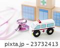救急車 病院 医療 聴診器 医者 ドクター 医師 緊急車両 搬送 救命 救急 119 23732413