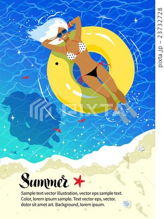 summer vacation flyer designのイラスト素材 23732728 pixta