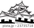 彦根城 【手描きボールペンイラスト】 23735718