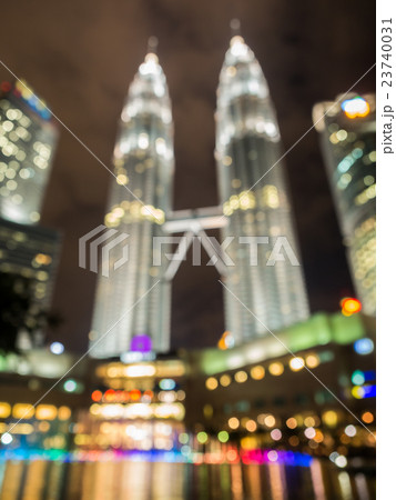 Blurred image of famous place in Kuala Lumpur 23740031