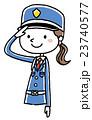 女性警備員:敬礼 23740577